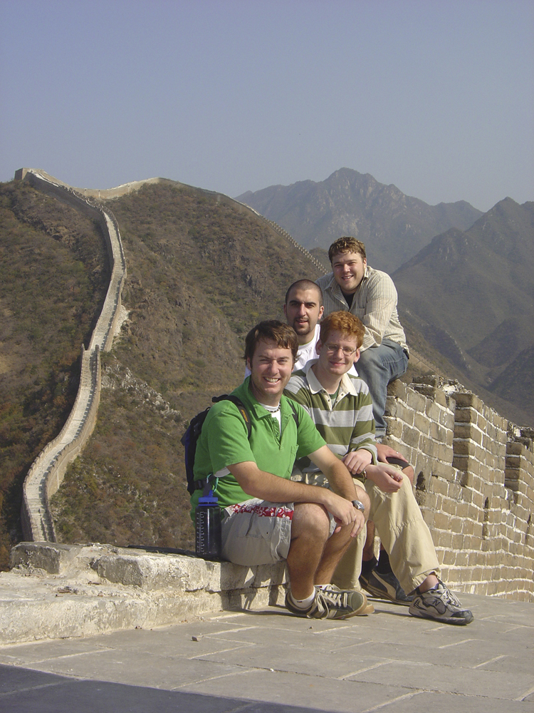 Photo of students at Great Wall of China